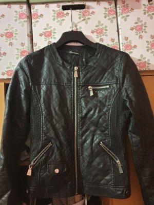 Papillonne Biker Jacket black-silver-colored