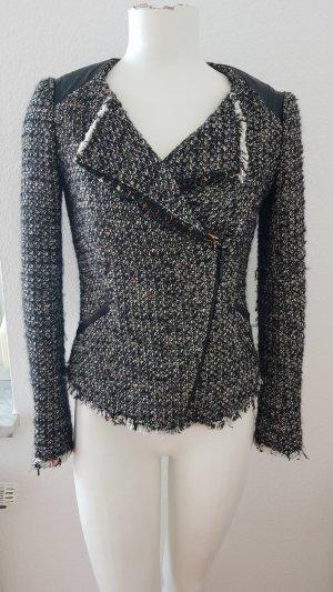 Bikerjacke aus Chanel-Tweed in Gr. 34