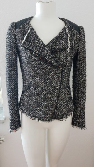 Bikerjacke aus Chanel-Tweed in Gr. 34