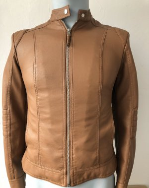 Calliope Biker Jacket brown-cognac-coloured imitation leather