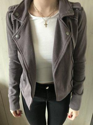 Sisley Veste chemise gris lilas