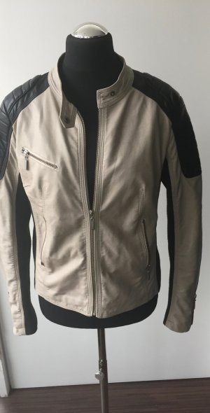 Mark Adam Biker Jacket black-oatmeal
