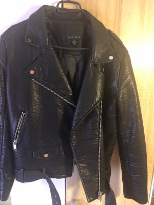 Amisu Chaqueta de motociclista negro