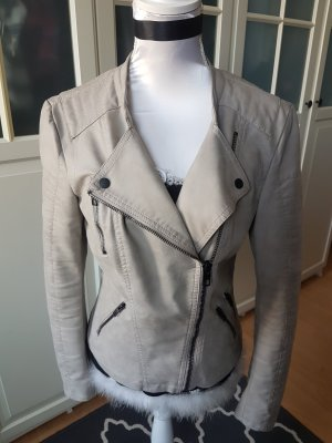Only Faux Leather Jacket light grey