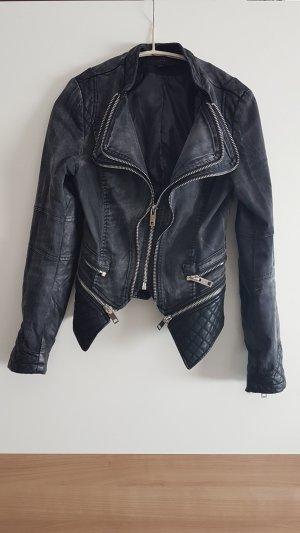 Julie Biker Jacket silver-colored-anthracite