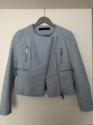 Zara Biker Jacket azure imitation leather