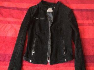 Bikerjacke Jacke aus Wildleder von Orsay, Gr.38, schwarz
