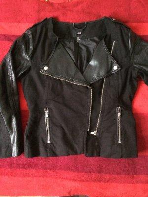 Bikerjacke Jacke Schwarz Gr.38 von H&M mit Kunstleder