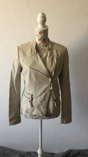 Promod Biker Jacket cream-oatmeal