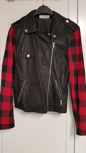Noisy May Veste motard noir-rouge