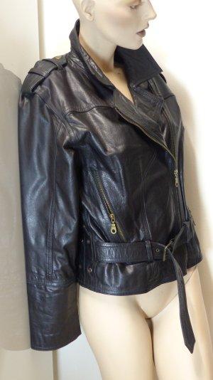 Veste motard noir cuir