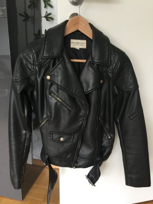Denim & Supply Ralph Lauren Biker Jacket black imitation leather