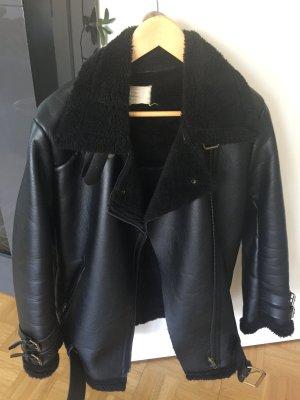 Biker Jacket black imitation leather