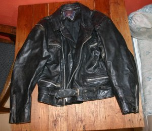 Donna Veste motard noir cuir
