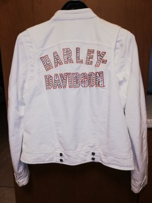 Harley Davidson Chaqueta de motociclista blanco