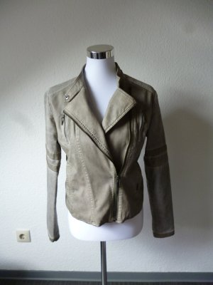 LTB Biker Jacket grey imitation leather
