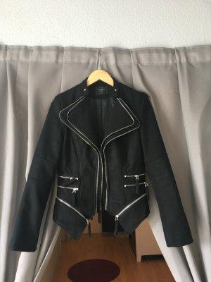 Chaqueta de motociclista negro Acrílico
