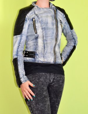 Ann Christine Denim Jacket azure-black cotton