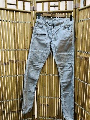 Coccara Biker jeans wolwit-beige