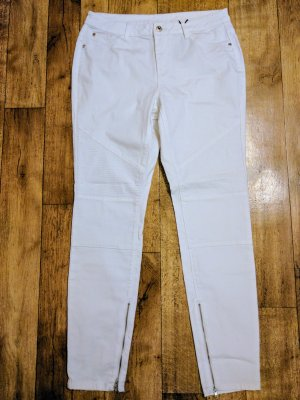 Best Connections Boyfriend Trousers white cotton
