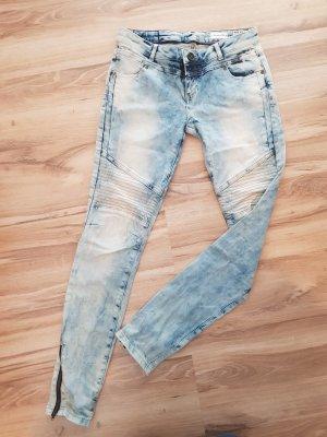 Review Biker jeans veelkleurig