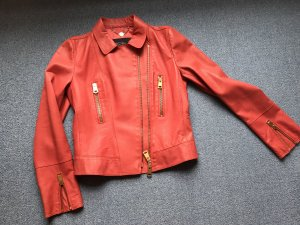Marc Cain Biker Jacket bright red leather