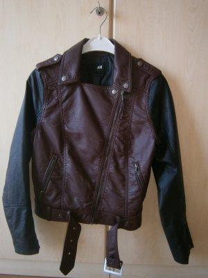 H&M Leather Jacket multicolored