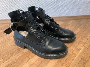 Pull & Bear Rangers noir faux cuir