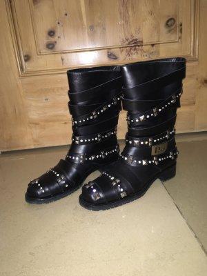 Dior Buskins black leather