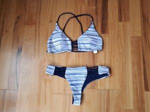 Sheinside Bikini wit-blauw