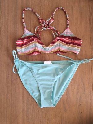 Bikini Bademode Swim Wear türkis bunt boho Gr. 38