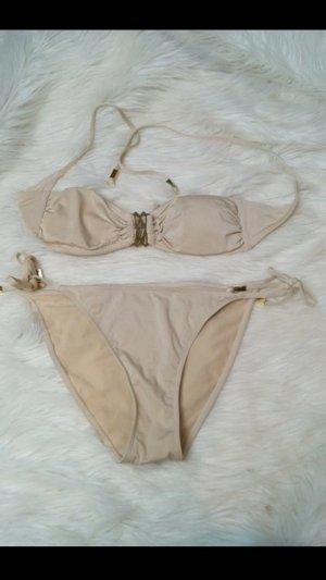 bikini bandeau triangel gold nude 36 38 h &m