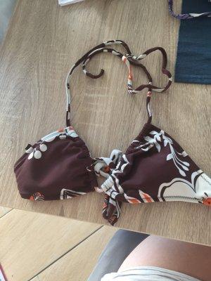 Bikini braun mit Blumenoptik