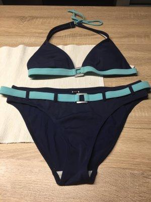 Bikini dunkelblau/Hellblau