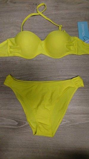 Bikini giallo Tessuto misto