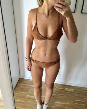 Bikini Gold Bronze S 36 Cutouts sexy blogger