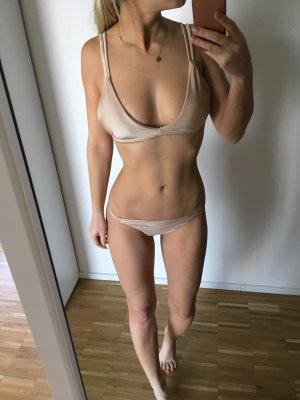 Bikini Gold S 36 Beige Bademode gefüttert
