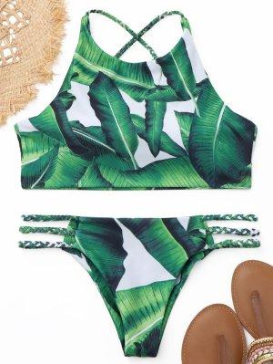 Bikini im Palmenprint