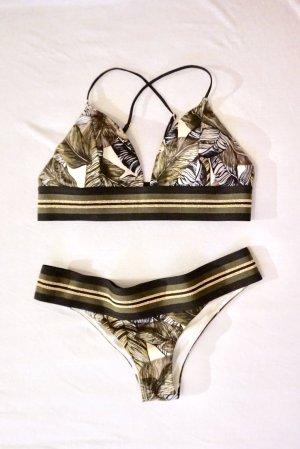 Bikini mit Blattmuster