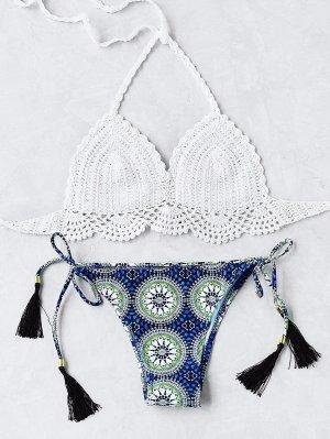 Bikini mit gehäkeltem Oberteil