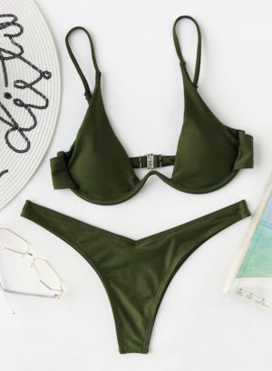 Bikini khaki
