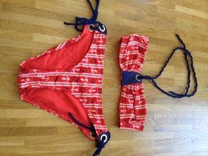 Bikini mit maritimen Muster