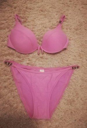Bikini pink-neon pink polyamide
