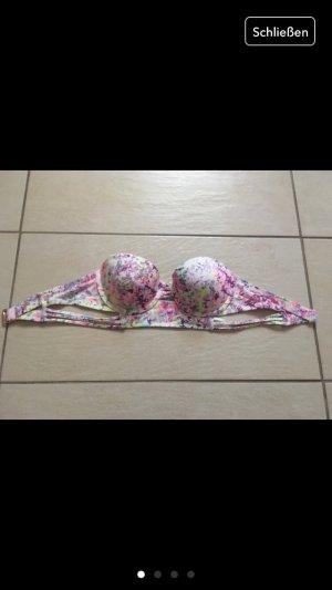 Bikini Oberteil bandau victorias Secret 32 C 70 75 bunt weiß Swimm Wear