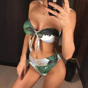 Bikini Palmen High Waist