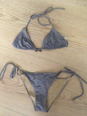 Bikini azul acero