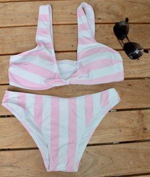 Bikini light pink-white