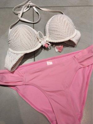 Hunkemöller Bikini blanco-rosa