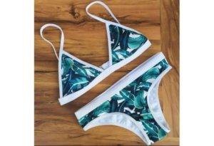 Bikini azul cadete-blanco