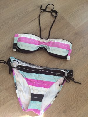 Bikini Set S.Oliver gestreift Neckholder Oberteil (Gr. 36/38), Slip (Gr. 38/40)